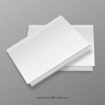 Capas de livros em branco
