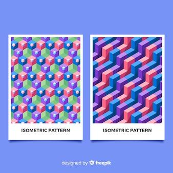 Capas de padrão isométrico