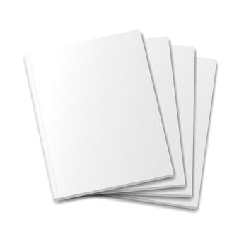 Capas de revista maquete ou livros em branco