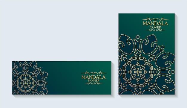 Capas e cartões luxuosos em estilo mandala