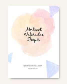Capas para formas abstratas de aquarela