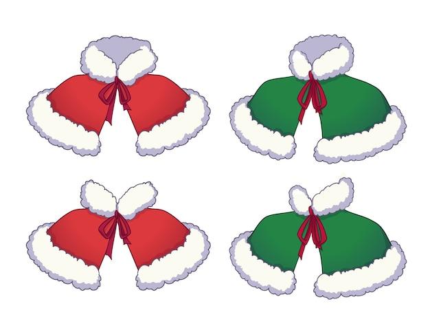 Capas vermelhas e verdes de natal