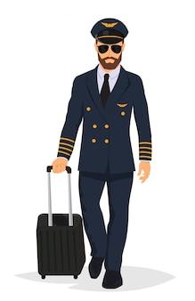 Capitão do piloto de avião