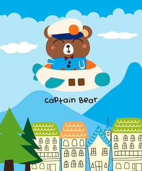 Capitão urso dos desenhos animados