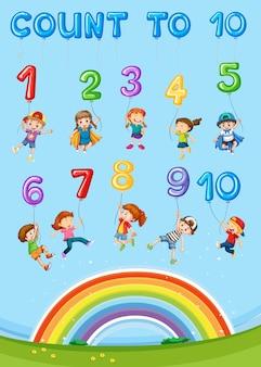 Capítulo de contagem de números de matemática