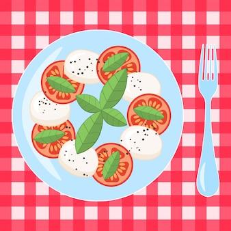 Caprese, salada italiana tradicional. plano