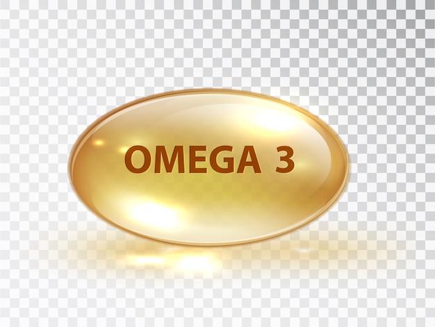 Cápsula com omega 3.