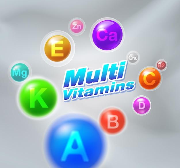 Cápsula complexo multivitamínico mineral