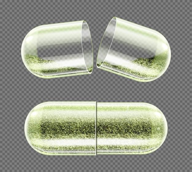 Cápsula de ervas, suplemento nutricional, comprimidos em pó