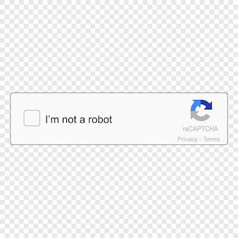 Captcha eu sou em um robô.