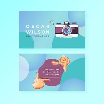 Capture o momento do cartão de visita horizontal