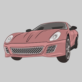 Car illustration super car