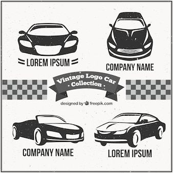 Car pack logotipo do vintage