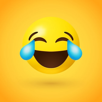 Cara com lágrimas de alegria emoji