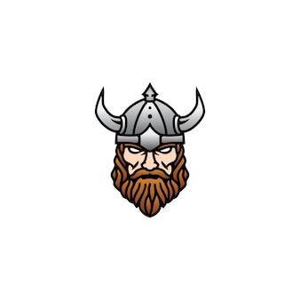 Cara de cabeça viking moderna para logotipo de esports