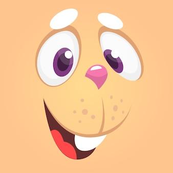 Cara de coelho dos desenhos animados