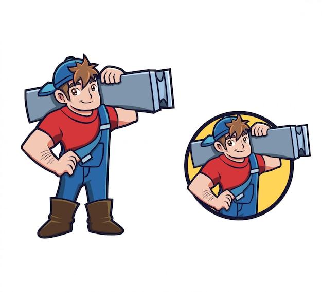 Cara de construc dos desenhos animados