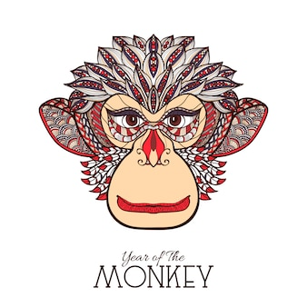 Cara de cor de macaco