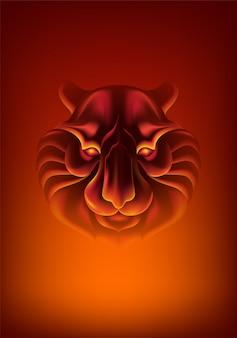 Cara de tigre abstrata
