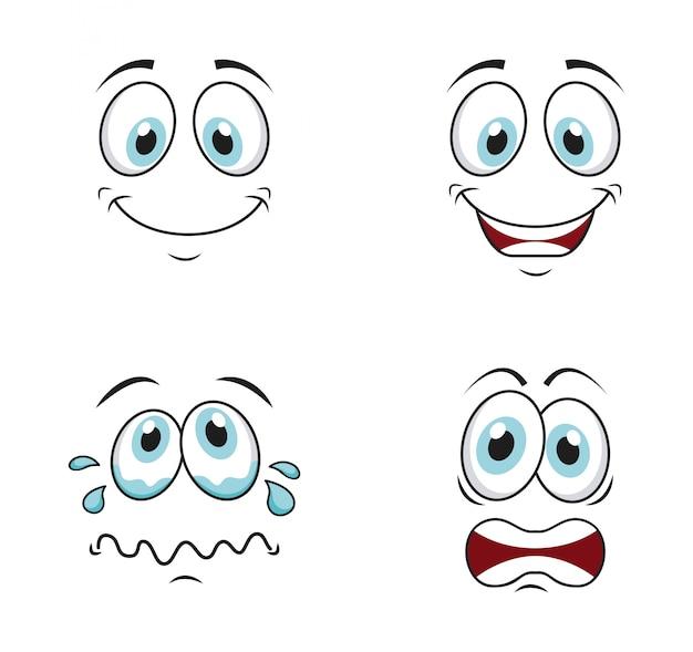 Cara dos desenhos animados