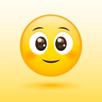 Cara sorridente feliz