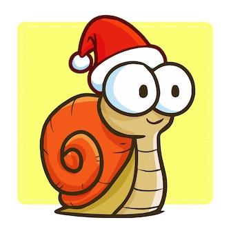 Caracol de desenho animado de natal