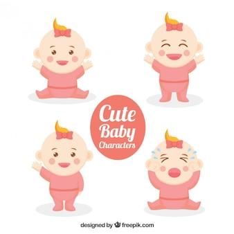 Caracteres bebê agradáveis encantadores