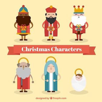 Caracteres cena da natividade
