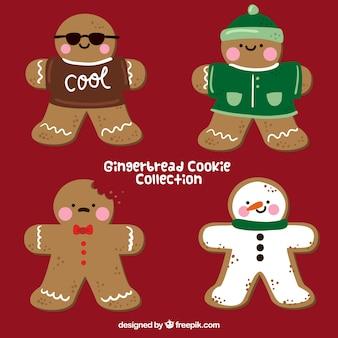 Caracteres de biscoito de gengibre agradáveis