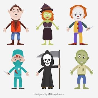 Caracteres de halloween embalar