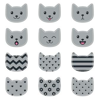 Caras de gato para álbum de recortes