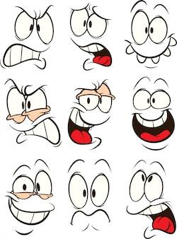 Caras dos desenhos animados