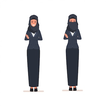 Caráter árabe das mulheres ou vestido árabe muçulmano.