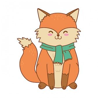 Caráter bonito da floresta da raposa