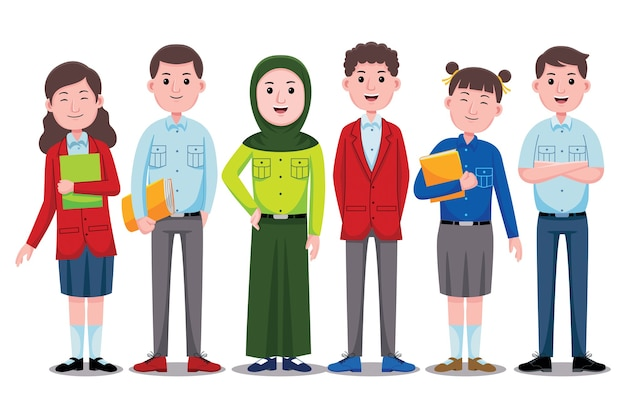 Caráter de alunos felizes