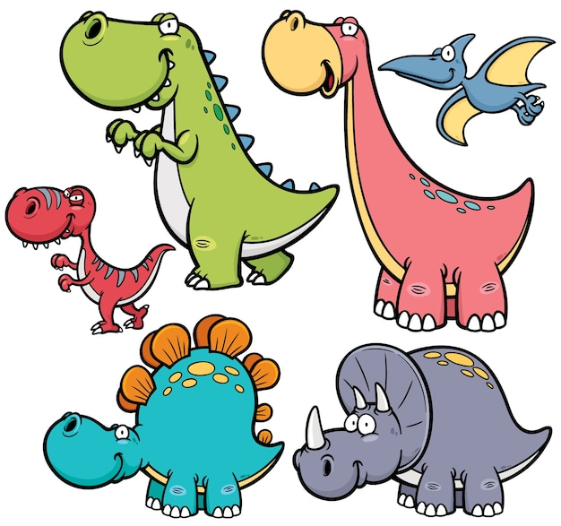 Caráter de dinossauro dos desenhos animados