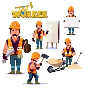 Caráter de mão de obra de construção