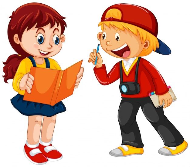Caráter de menino e menina
