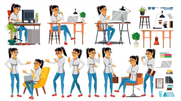 Caráter de mulher de negócios