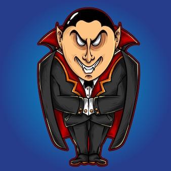 Caráter de vampiro monstro halloween