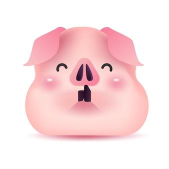 Caráter do cumprimento do porco pequeno pelo ano novo chinês.