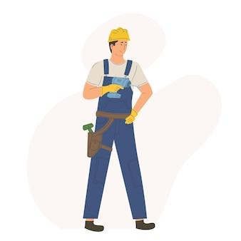 Caráter homem trabalhador trabalhador construção