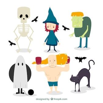 Caráteres bonitos do dia das bruxas