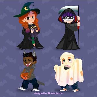 Caráteres engraçados de halloween