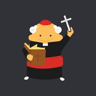 Cardinal católica plana
