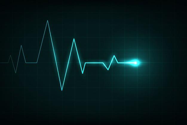 Cardiograma de linha do coração, pulsação médica.