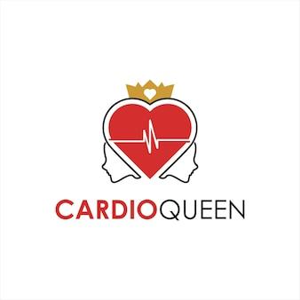 Cardiologia logo design tratamento médico