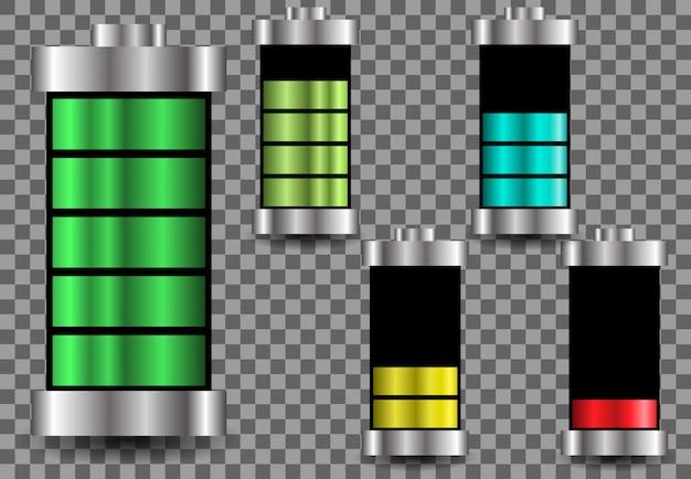 Carga de energia da bateria gradiente