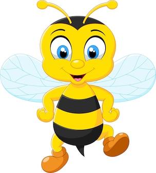 Caricatura, abelhas adoráveis, posar
