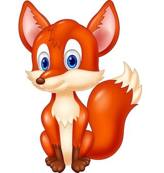 Caricatura, animal, raposa, ilustração